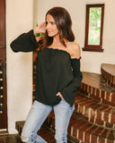 Ibiza Off The Shoulder Top - Black