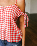 Gretchen Gingham Tank - Red