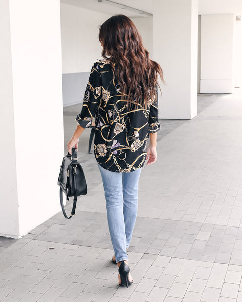 Mansion In The Sky Printed Blouse - FINAL SALE