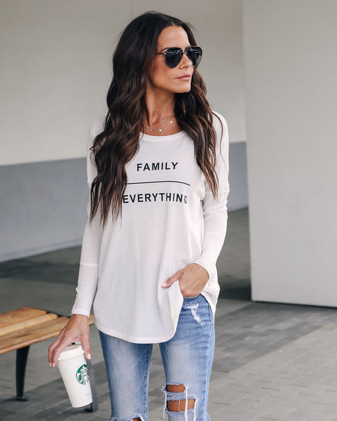Family Over Everything Long Sleeve Top
