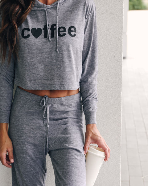 Love Coffee Knit Hoodie - FINAL SALE