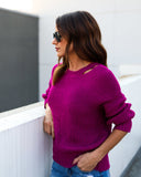 Fun In Fuchsia Sweater