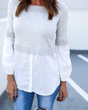 Sidetracked Contrast Top