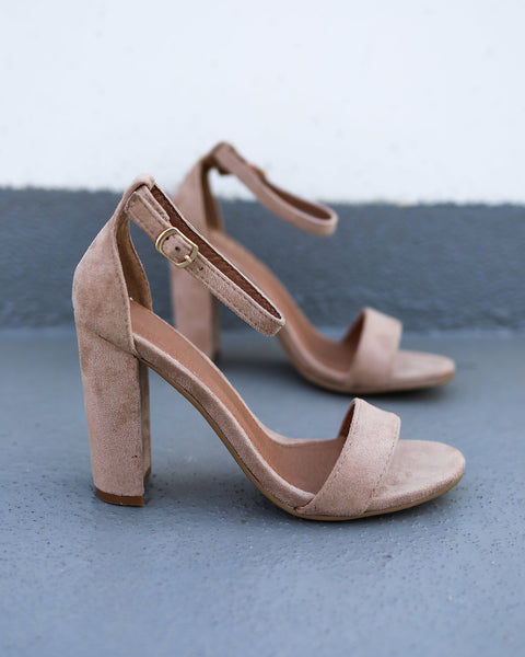Gia Faux Suede Heel