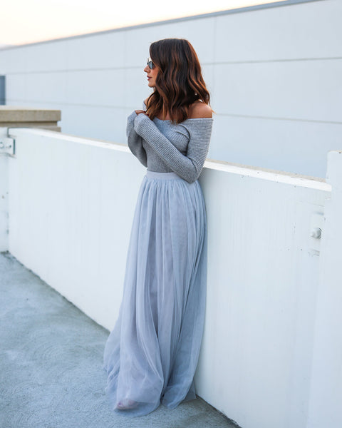 Tulle For You Maxi Skirt - Grey