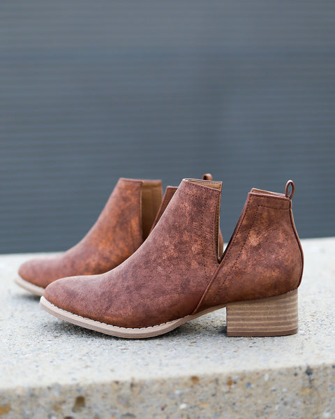 Avery Ankle Bootie - Whiskey