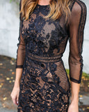 My Forever Lace Dress - Black