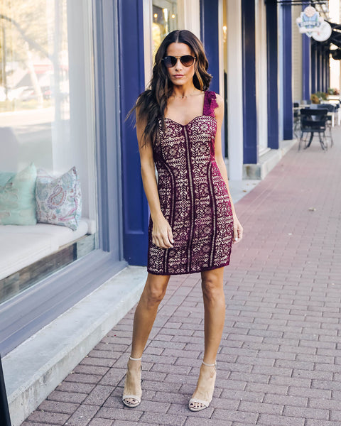 On The Vine Lace Dress - FINAL SALE