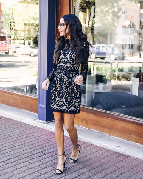 Camille Lace Long Sleeve Dress
