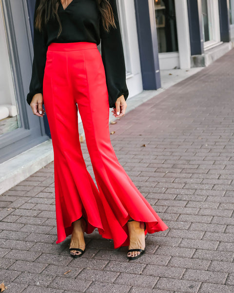 Crimson Crush High Low Pant
