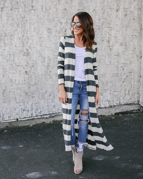 Beg To Differ Striped Cardigan