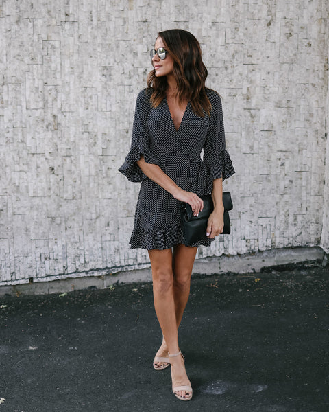 Now Or Never Star Wrap Dress
