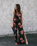 Maybe Baby Floral Jumpsuit