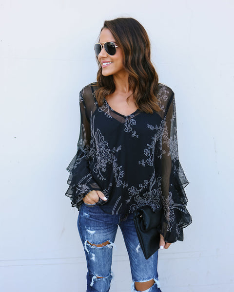 Ashton Blouse - Black - FINAL SALE