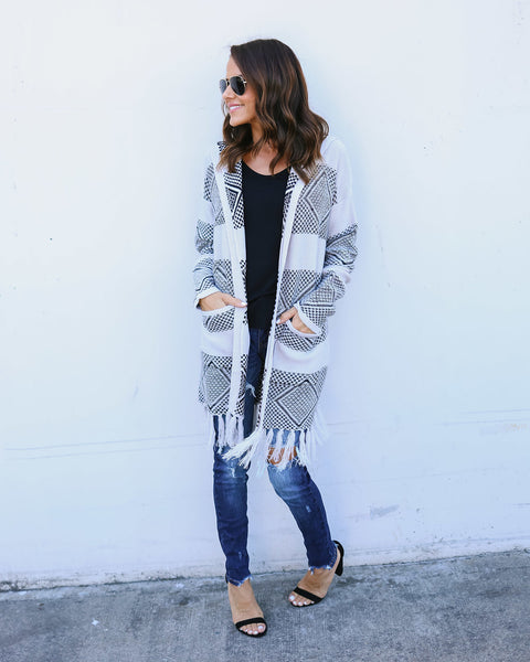 Willow Pocketed Tassel Cardigan