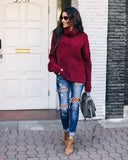Cabernet Cowl Neck Sweater