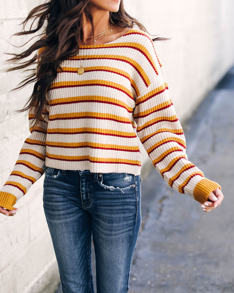 Ginny Striped Knit Sweater