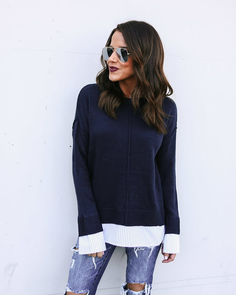 Working For The Weekend Contrast Sweater