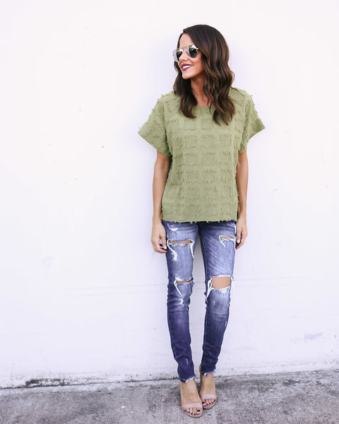 Rags To Riches Cotton Top - Olive - FINAL SALE