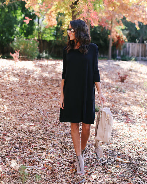 Piko Jersey Dress - Black