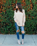 Nights In Sweater Top - Taupe