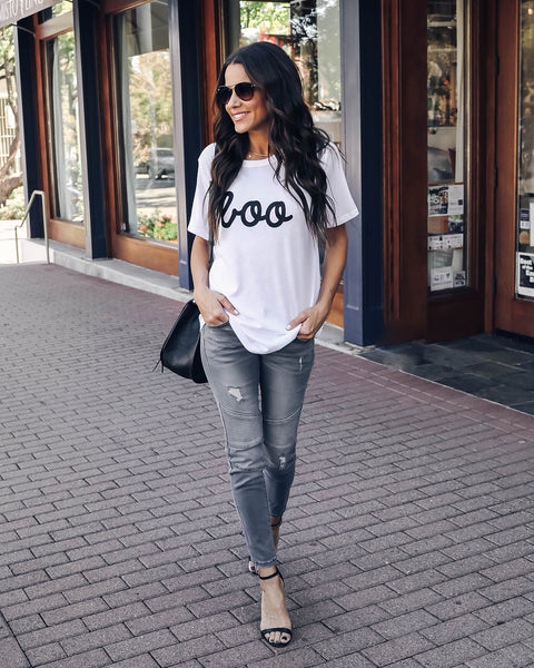 Boo Cotton Blend Tee by Vici