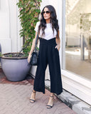 Pixie Pocketed Ankle Overalls - Black - FINAL SALE