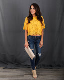 Gwendalyn Lace Top - Yellow