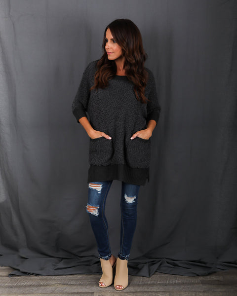 Cute N' Cozy Pocketed Sweater
