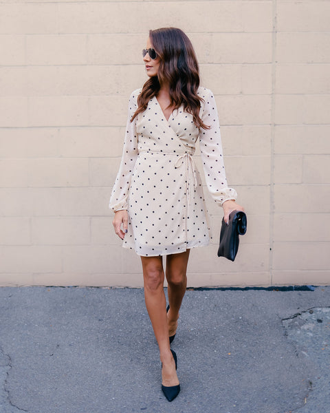 Connect The Dots Wrap Dress