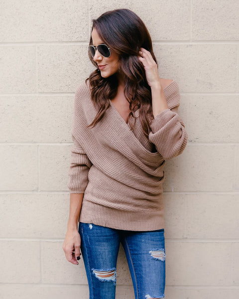 Wrap Me Up Sweater - Beige