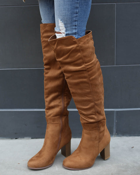 Sammie Over The Knee Boot - Tan - FINAL SALE