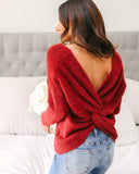 Rachel Twist Back Sweater