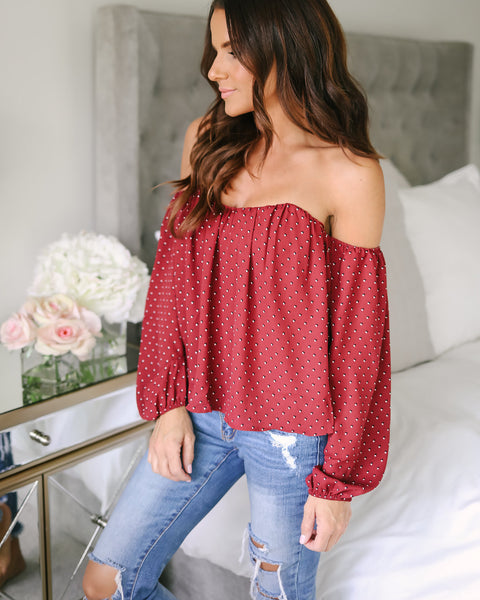 Genevieve Off The Shoulder Top