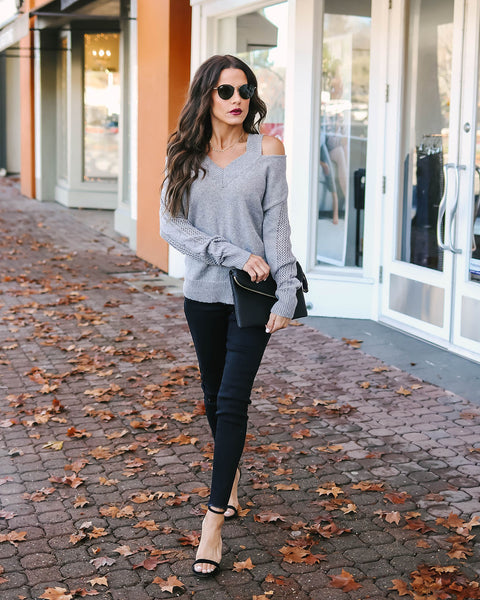 Dee Dee Knit Cold Shoulder Sweater