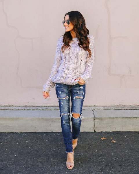 Old Love Cable Knit Sweater