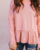 Dream Lover Ruffle Knit Top - Mauve - FINAL SALE