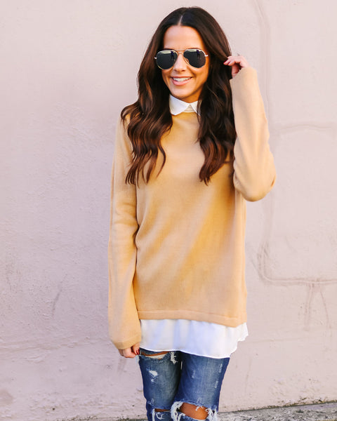 Count On Me Contrast Sweater