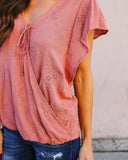 My Girl Eyelet Top - Dusty Pink - FLASH SALE