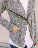 No Regrets Pocketed Knit Jacket