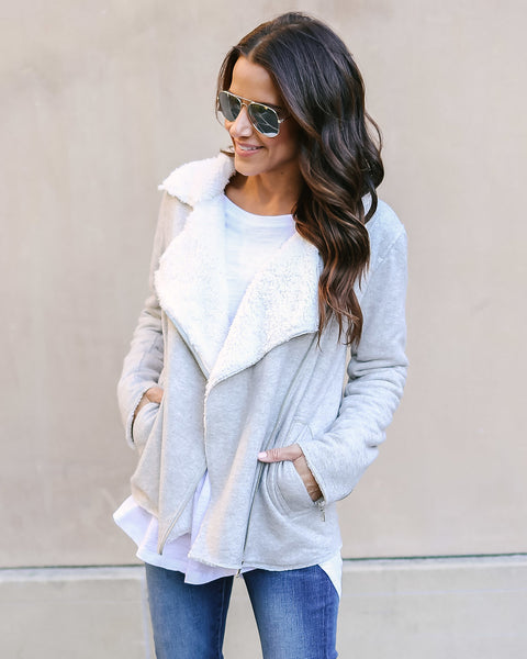 Ready For Anything Pocketed Knit Jacket