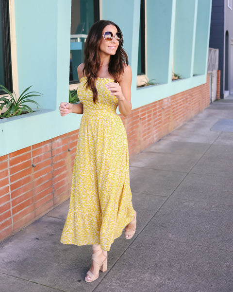 Limonada Strapless Dress