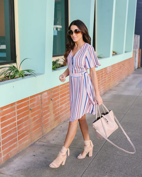 Kiara Striped Dress