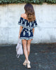 Mediterranean Off The Shoulder Romper