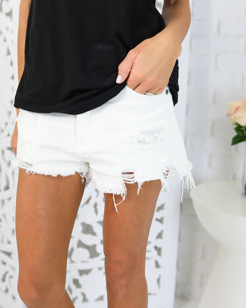 High Road Distressed Shorts