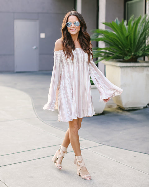 Winding Road Off The Shoulder Dress