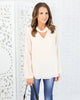 Love All Day Keyhole Top - Cream