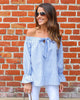 Breanna Off The Shoulder Tie Top - FINAL SALE