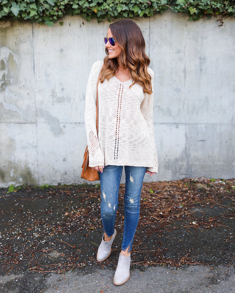 Mara Knit Sweater - Beige