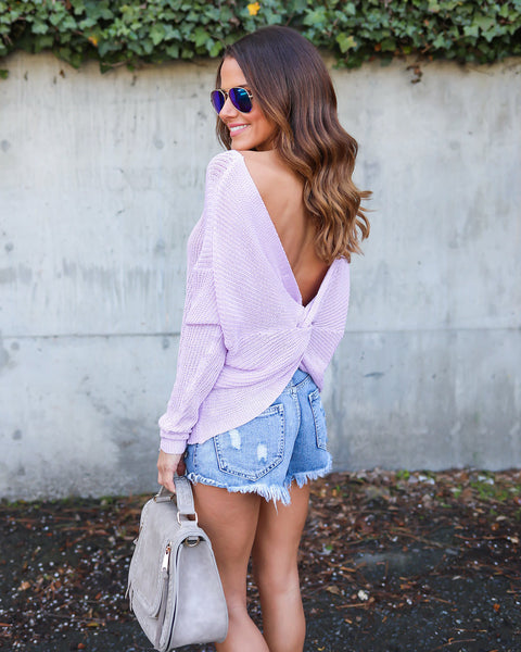 Heart Escapes Sweater - Lavender
